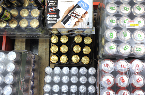 Irish officials looking into warning labels for alcohol similar to those used on cigarettes.