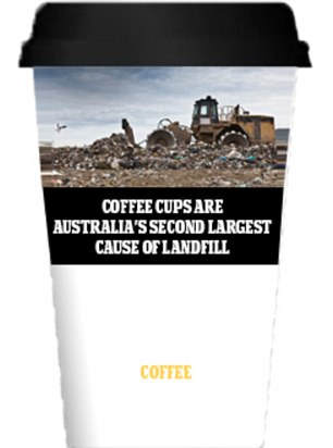Activists push for coffee cups to be plastered with cigarette-style labels