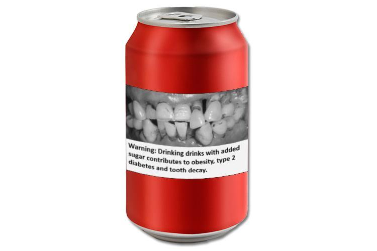 Calls to add photos of rotting teeth to soft drinks to reduce consumption