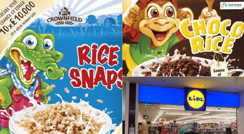 Lidl is planning to remove cartoon characters from its own cereal packaging